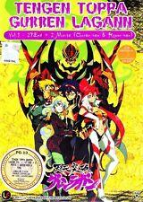 Tengen Toppa Gurren Lagann Vol. 1-27 End + 2 Movies ANIME DVD (ENGLISH DUB)