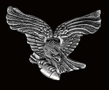 Black Bird Eagle JACKET VEST PEWTER  BIKER PIN