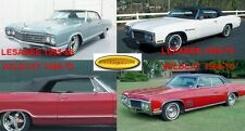 "BUICK LESABRE - WILDCAT CONVERTIBLE TOP 1965-68 1969-70 ""ACME"""