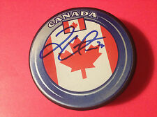 "Logan Couture Sharks Team Canada Signed Puck ""PROOF"""