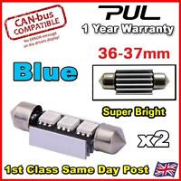 2x 3 SMD LED 36mm 239 272 CANBUS ERROR BLUE NUMBER PLATE LIGHT FESTOON BULB UK