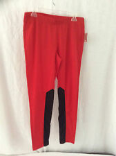 Nwt ~ Exercise/Dance Pants ~ Jr Lg (11-13) ~ Red with Black Insets