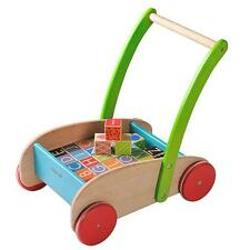 EverEarth Childrens Wooden Walker With Blocks Ee33721
