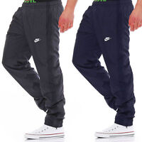 Nike Mens Woven Tracksuit Jogging Bottoms Track Pants Sports Fitness Navy & Grey