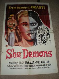 SHE DEMONS ORIGINAL 1958 1SHT MOVIE POSTER HORROR