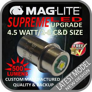 MAGLITE UPGRADE LED 2-6CD CREE 4.5W BULB GLOBE for TORCH FLASHLIGHT 1.5-9V 500LM