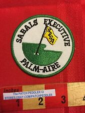 GOLF PATCH ~ SEGA PALM-AIRE COUNTRY CLUB CC SABALS EXECUTIVE POMPANO BEACH 5OU9