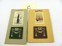 Lot of 2 rare 1912 Calendars Sailboat, hanging calendar, Color and B&W images