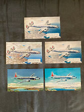 5 Eastern Airlines postcards, circa 1940s-50s