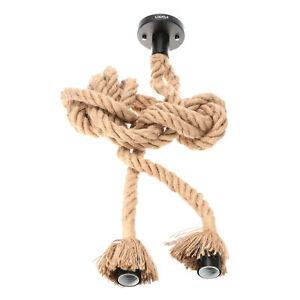Lixada 1M E26/E27 Double Head Vintage  Rope   Light Lamp I8J1