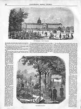 Esplanade Hôtel des Invalides nécropole Napoléon Le Dôme Paris GRAVURE 1848