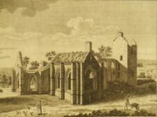 200 year old Lincluden Abbey Dumfries; antique copper engraving by John Thornton