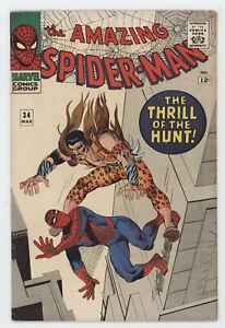 Amazing Spider-Man 34 Marvel 1966 FN VF Kraven The Hunter Stan Lee Steve Ditko