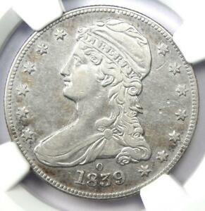 """1839-O Capped Bust Half Dollar 50C - NGC VF Details - Rare """"O"""" Mint Coin!"""