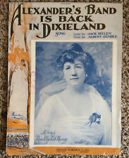 "[COL] ""Alexander's Band Is Back in Dixieland"" Sheet Music (1919) Yellen/Gumble"