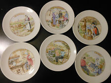 Set 6 CHAUVIGNY France Porcelaine Cheese Plates Camembert Munster Valencay ets.