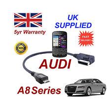 AUDI A8 séries 4F0051510M Câble pour Blackberry Q10 MICRO USB Câble Audio 30cm