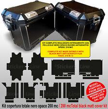 Kit Autocollant Valises BMW R1200GS - R1250GS Noir Anti-rayures Sacs Stickers De