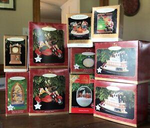 10 Hallmark Keepsake Magic Christmas Ornaments Showboat Motorcycle Chums More