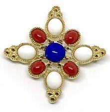 Sarah Coventry Juliana D&E Red White Blue Americana Patriotic Pin Brooch