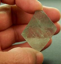 "Green Fluorite Octahedron Crystal Stone Rock 1 3/8"" 31g (FOC1)"