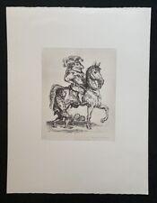 A. Paul Weber, Der stolze Kasper, Lithographie, 1978, handsigniert