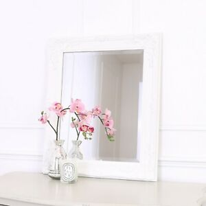Rhone Wall Mirror - French Baroque Rococo Vintage Chic- 50x60cm - White