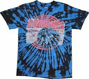 Men's The Ramones Johnny Joey DeeDee Tommy Retro Vintage Tie Dye Band T-Shirt