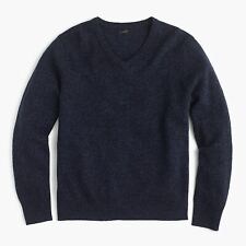 J.Crew Slim Lambswool V-Neck Sweater | M | Marled Indigo | $69.50