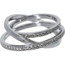 Swarovski Women's Ring Rhodium-Plated Glass Clear 5071169 BNIB SHIPS FAST