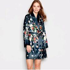 Ted baker Navy Floral print 'Kensington' Dressing gown / kimono. Size 8-10 UK.