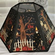 Black Halloween Scene Lamp Shade