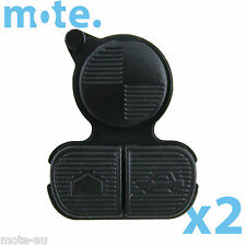2 x BMW Rubber Key Pad 3 Button Replacement Remote Shell/Case/Enclosure X3 X5 M3
