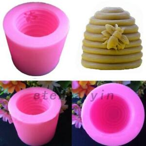 Soap Mould DIY Pack of 2 Kirmax Bee Honeycomb Candle Soap Moulds Silicone Homemade Beeswax Candle