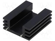 Kühlkörper Strangkühlkörper Alu TO220 schwarz 38,1mm 11K/W HS-132-38