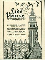 Publicité ancienne Lido Venise 1925 issue de magazine