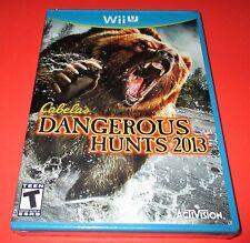 Cabela's Dangerous Hunts 2013 Nintendo Wii U *Factory Sealed! *Free Shipping!