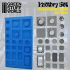 Silicone Molds - Grids and Fans - resin walls terrain scenery warhammer 40k