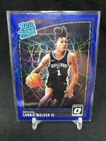 LONNIE WALKER IV 2018-19 Donruss OPTIC Rated Rookie BLUE VELOCITY 174 Rookie M82