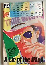 Vintage A Lie of the Mind Playbill 1987, Dallas, w/ Anne Gerety, William Larsen