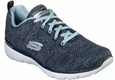 Skechers High Tides Damen Sneakers Turnschuhe Freizeit 13077 Nvbl Blau Navy Neu