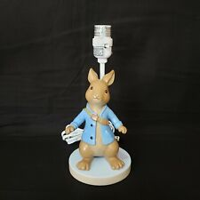 New listing Lambs & Ivy Beatrix Potter Peter Rabbit Table Lamp Nursery No Shade