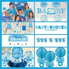BABY SHOWER Decorations Blue Boy Party Supplies Banner Backdrop Room Wall Kits
