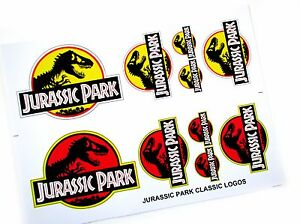 Kenner Jurassic Park red and yellow Logo sticker set - very nice and sharp!