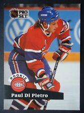 NHL 546 Paul Di Pietro Montreal Canadiens Rookie Pro Set 1991/92