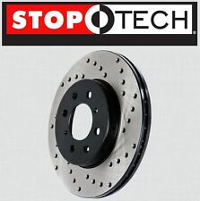 FRONT [LEFT & RIGHT] Stoptech SportStop Cross Drilled Brake Rotors STCDF65057
