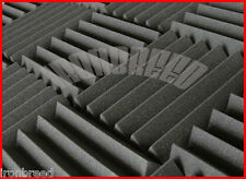 """12 Pack  Wedge Soundproofing Foam 12"""" x 12"""" x 2"""" Studio Acoustic Wall Tiles USA"""