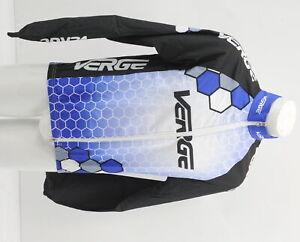Verge Men's Medium Shell Cycling Wind Jacket Blue/White/Black Brand New