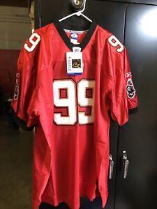 Warren Sapp #99 Tampa Bay Buccaneers Reebok Jersey Size 58 NOS