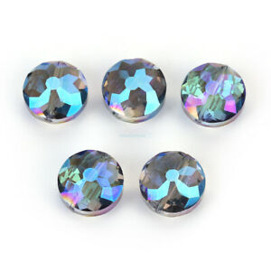 10Pcs Faceted Frosted Glass Crafts Jewelry Making Bead Crystal Beads 14mm 18mm